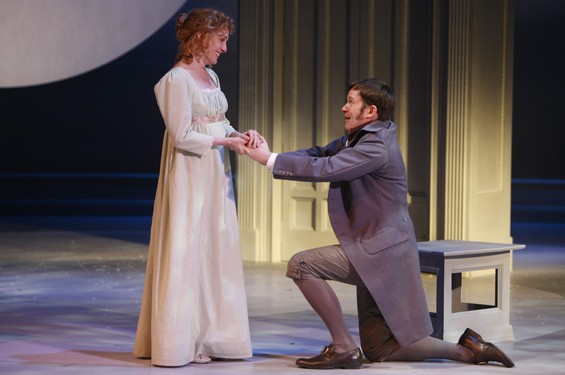 Nancy Lemenager as Elinor and Geoff Rice as Edward Ferrars.