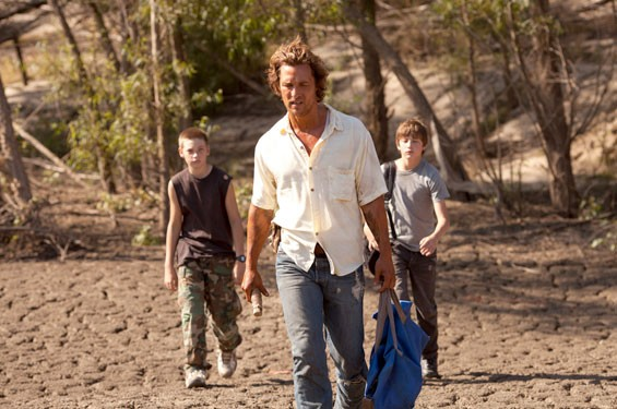Matthew McConaughey, Tye Sheridan and Jacob Lofland