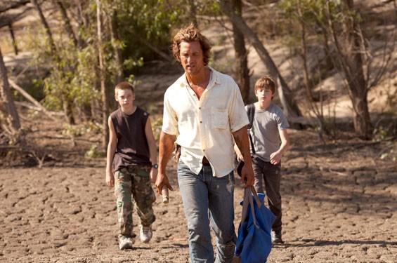 Matthew McConaughey, Tye Sheridan and Jacob Lofland