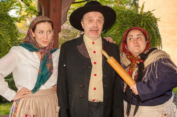 Emily Baker, Terry Meddows and Johanna Elkana-Hale star in Shlemiel the First.