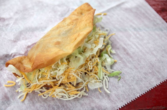 Of course fried tacos are delicious. But could you eat ten of these guys in four minutes?
