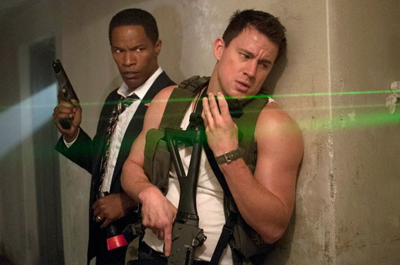 Jamie Foxx and Channing Tatum in White House Down, the summer's biggest comedy.