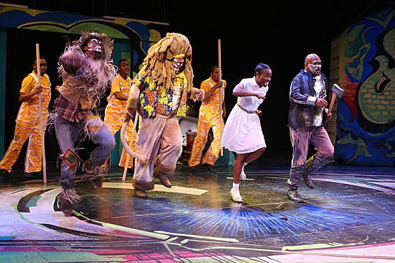 Cast members of The Wiz, pacing themselves.