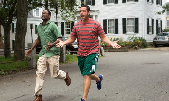 Adam Sandler and Chris Rock in Grown Ups 2.