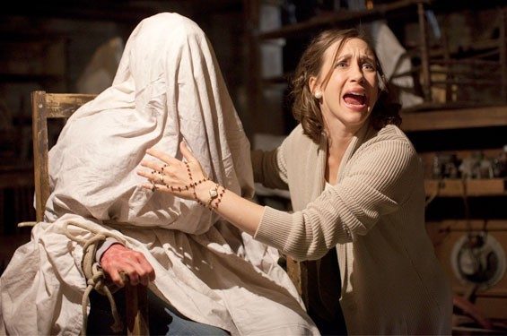 Vera Farmiga knows her way around a bed sheet in The Conjuring.