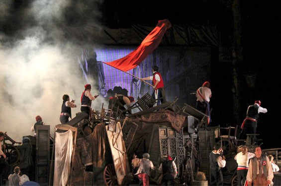 The cast of the Muny's Les Misérables.