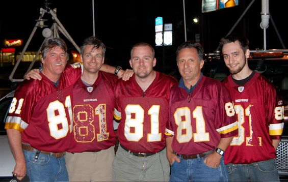 Team TWISTEX after a May 13, 2009, Kirksville intercept. From left: Ed Grubb, Carl Young, Tony Laubach, Tim Samaras and Paul Samaras.