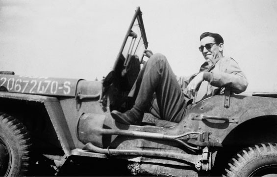 J.D. Salinger during the liberation of Paris in 1944.
