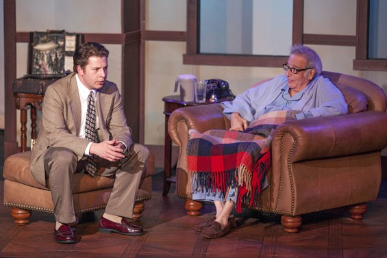 Aaron Orion Baker and Bobby Miller in Tuesdays with Morrie.