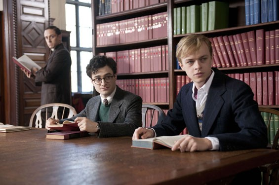 Still of Ben Foster, Daniel Radcliffe and Dane DeHaan in Kill Your Darlings.