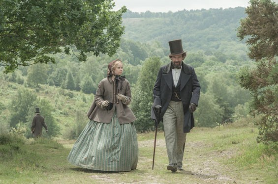 Felicity Jones and Ralph Fiennes dissect a love triangle of yore in The Invisible Woman.