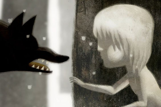 Still from Oscar nominated short film (animated) Feral.