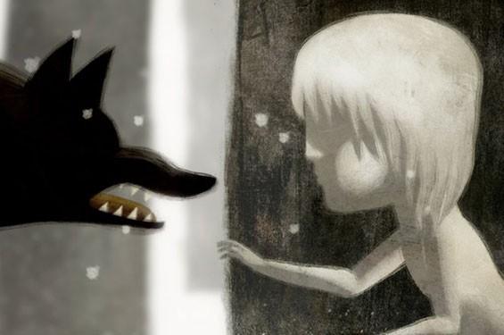Still from Oscar nominated short film (animated) Feral.