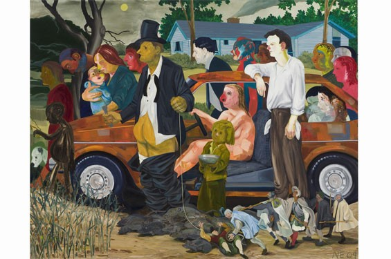 Nicole Eisenman, The Triumph of Poverty, 2009, oil on canvas, 65 by 82 inches, private collection, Omaha, Nebraska.