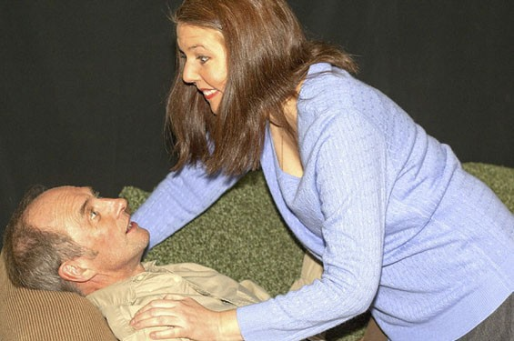 Colin Nichols as Andy and Theresa Masters as Hanna in Brian Friel's Lovers.