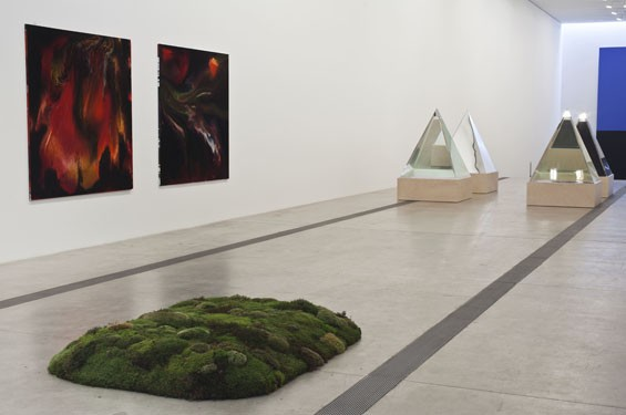 Installation view of the Pulitzer Foundation for the Arts' main gallery: Art of Its Own Making, 2014.