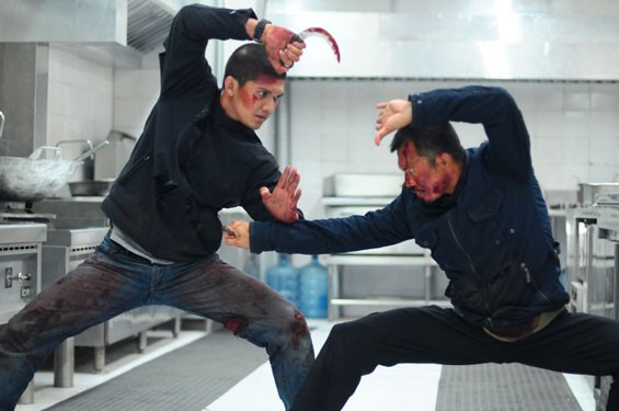 Iko Uwais and Cecep Arif Rahman in The Raid 2.