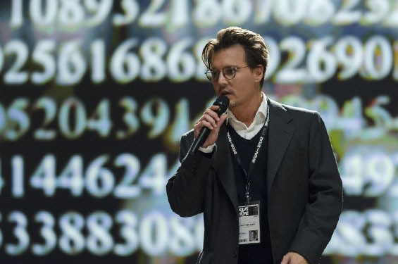 Johnny Depp in Transcendence.