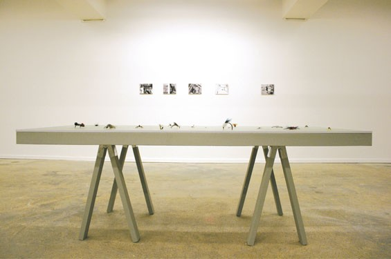 Installation view at Duet Gallery.