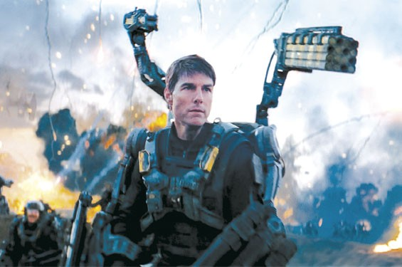 Tom Cruise in Edge of Tomorrow.