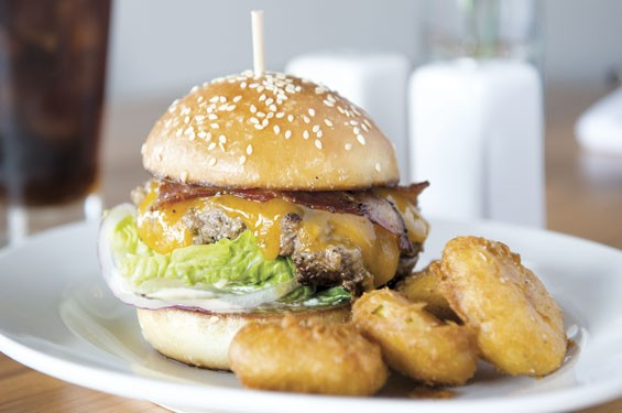 Three Flags' stellar brisket burger. See photos: Three Flags Tavern: Best New Restaurant of 2014?