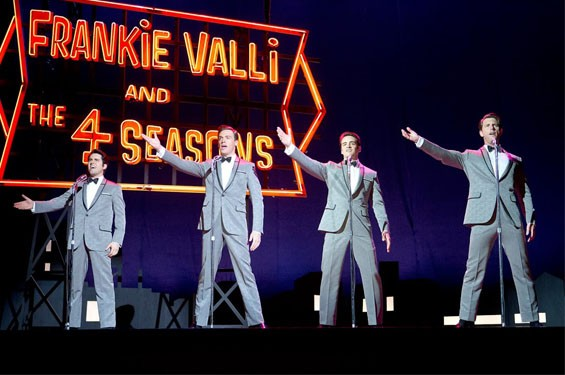 John Lloyd Young, Vincent Piazza, Erich Bergen and Michael Lomenda in Jersey Boys.