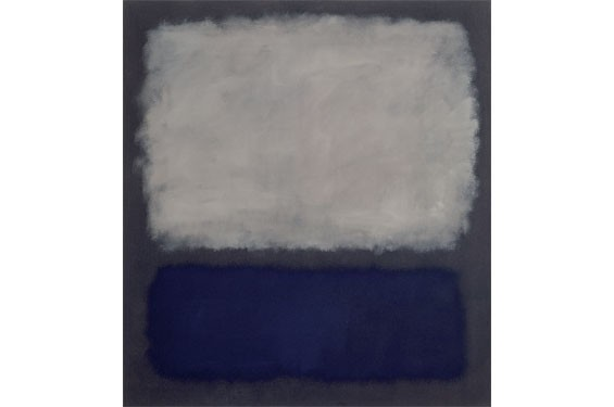 Mark Rothko, American (born Russia), 1903-1970; Blue and Gray, 1962; oil on canvas; 76x 68 7/8 x 1 inches; Fondation Beyeler, Switzerland © 1998 Kate Rothko Prizel & Christopher Rothko / Artists Rights Society (ARS), New York.