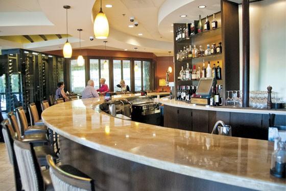 The bar at Bishop's Post.