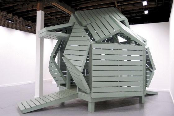 Michael Jantzen M-velope, 2014. Wood and mixed media.