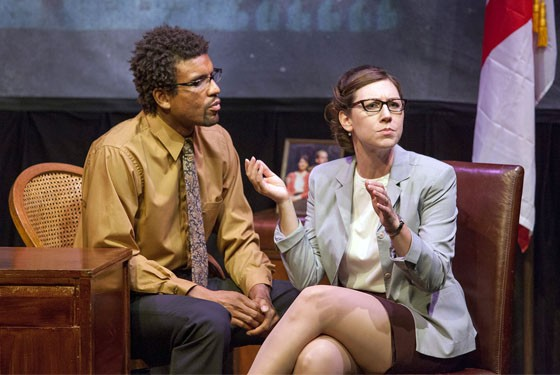Reginald Pierre and Emily Baker in Steve Karp's Rubbas.