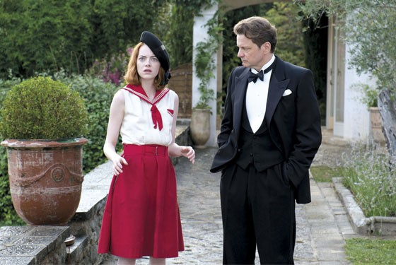 Emma Stone and Colin Firth try to bring a little shine to this Moonlight.