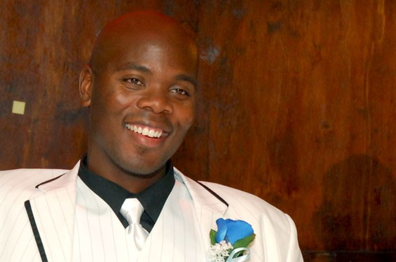 "Cornealious ""Mike"" Anderson on his wedding day in 2008, six years after he was supposed to have retuned to prison."