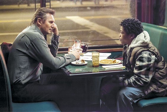 Liam Neeson and Brian Bradley pair up to crack a vexing case in A Walk Among the Tombstones.