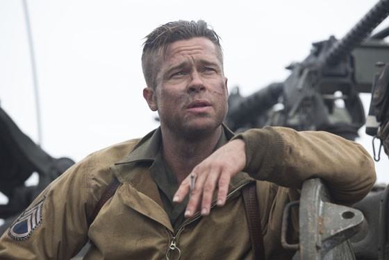 Brad Pitt in Columbia Pictures' Fury.