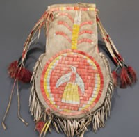 A Lakota pouch from the Danforth colleciton at the Saint Louis Art Museum. - IMAGE VIA