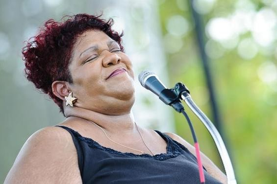 Kim Massie, TOCO's Woman of the Year, performs at LouFest in 2010. - JASON STOFF