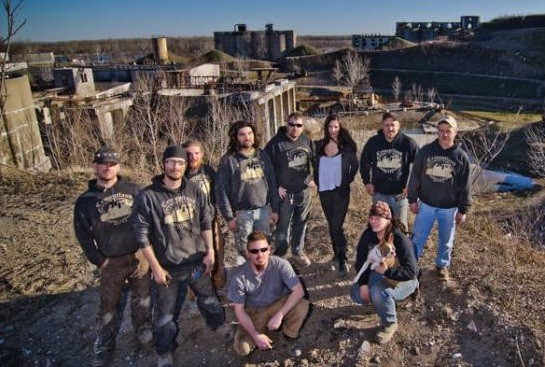 "Giovanna with the ""Cassilly Crew"" at Cementland last December."