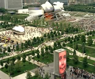 SOM did the master plan for Chicago's Millennium Park. - IMAGE VIA