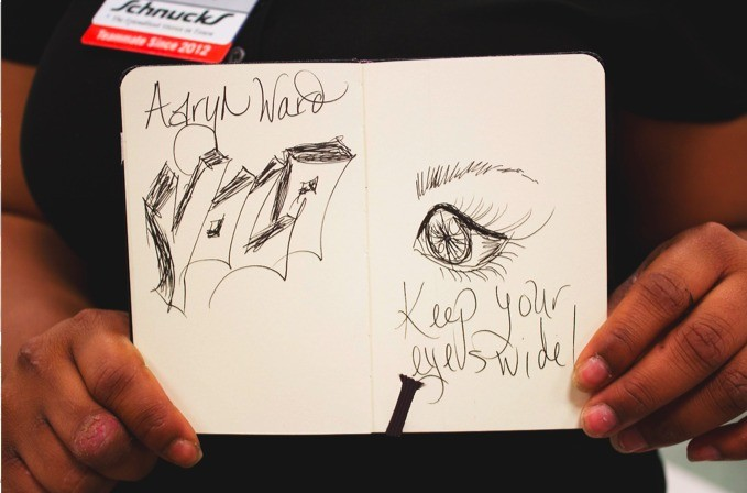"Aaryn Ward ""YOLO. Keep your eyes wide!"" - ANDREW KOH"