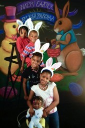 Cute Easter kids from last year. - COURTESY CHEROKEE PHOTOBOOTH