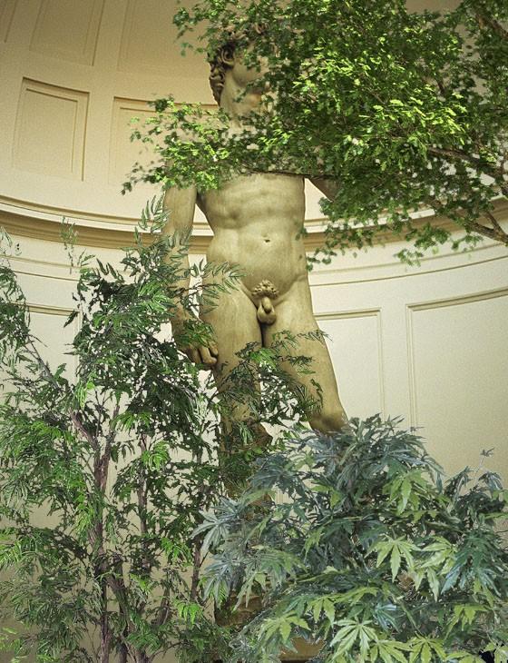 Michelangelo's immortal David, given the Chuck Berry treatment.