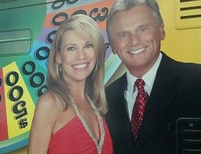 Vanna White and Pat Sajak grace the side of the Wheelmobile. - PHOTOS BY ALLISON BABKA
