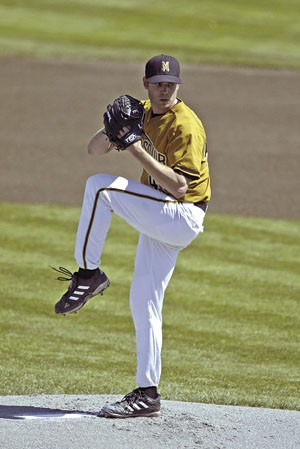 Broshuis tied a Mizzou record for wins as a pitcher before being drafted by the San Francisco Giants in 2004. - COURTESY MU ATHLETIC DEPT.