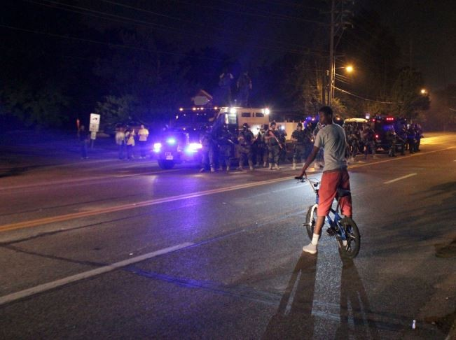 Police appeared committed to nonviolent responses Monday night. - ALL PHOTOS BY DANNY WICENTOWSKI