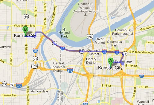 Why are there two Kansas Cities?! - VIA GOOGLE MAPS