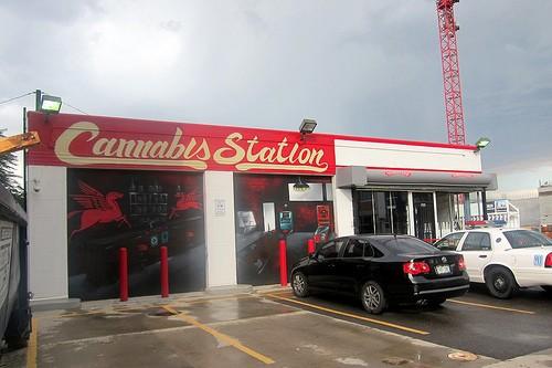 A legal marijuana shop in Denver, CO. - WALLYG/FLICKR
