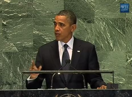 President Barack Obama gives his annual address to the United Nations General Assembly. - YOUTUBE