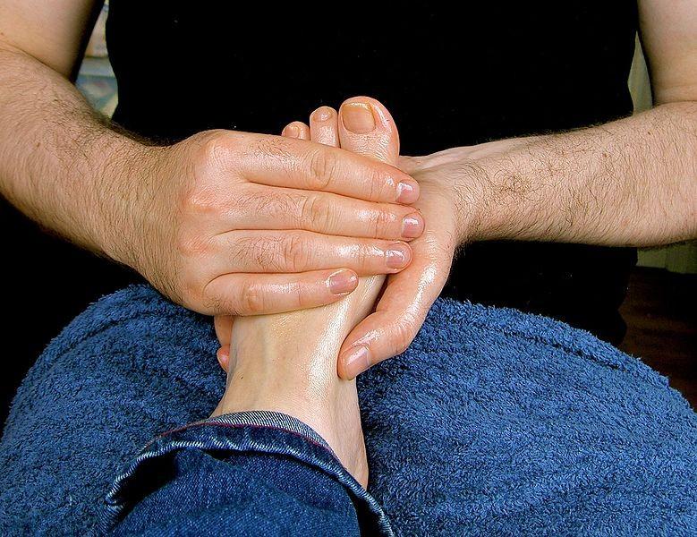 Baby oil makes the foot massage better. - WIKIMEDIA/LUBYANKA