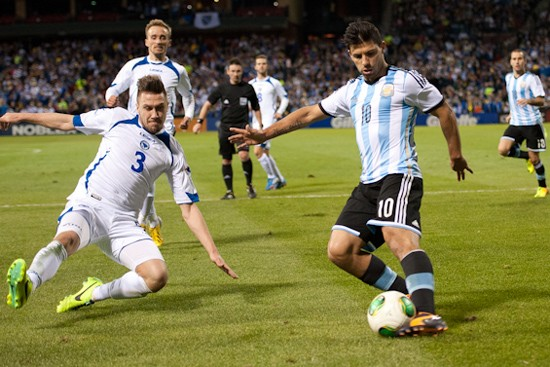 Sergio Aguero, one of the top players in the English Premier League, scored two goals for Argentina to seal the win. SEE ALL PHOTOS - RIVERFRONT TIMES