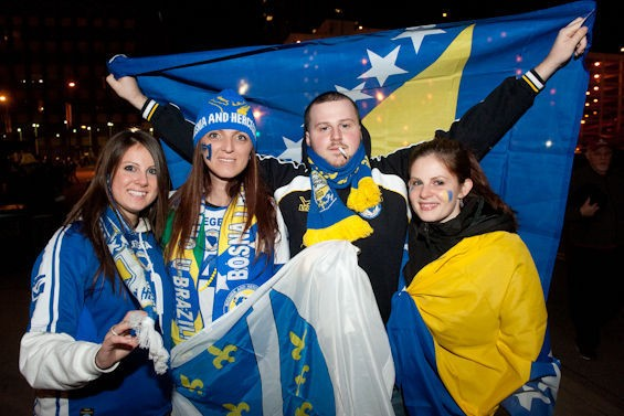 No time for a smoke break! Go Bosnia! SEE ALL PHOTOS